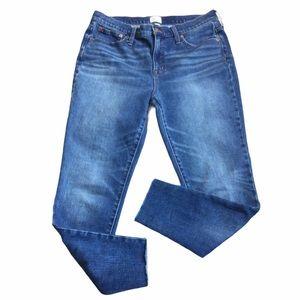 "J. Crew Denim Toothpick Jeans 9"" High Rise Blue"